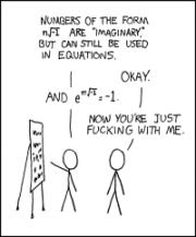 E To The I Pi Plus One Equals Zero